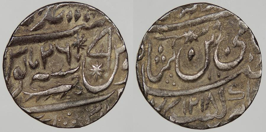 World Coins - INDIAN PRINCELY STATES: Awadh AH 1218Y26 (1803) Lucknow Mint. Rupee