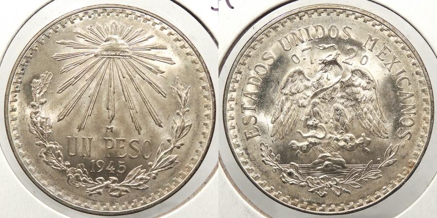 World Coins - MEXICO: 1945-M Peso