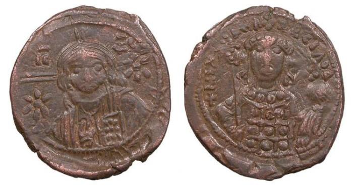 Ancient Coins - Michael VII, Ducas 1071-1078 A.D. Follis Near EF