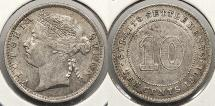 World Coins - STRAITS SETTLEMENTS: 1901 10 Cents