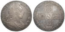 World Coins - ENGLAND William III 1700 Crown VF