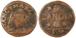 World Coins - ITALIAN STATES Venice (Venezia)-Crete (Candia) Anonymous Issues ND (1668-1669)-PM Gazetta da 2 Soldi Fine