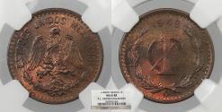World Coins - MEXICO Estados Unidos 1948-Mo Centavo NGC MS-65 RB
