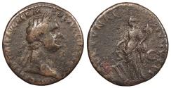 Ancient Coins - Domitian 81-96 A.D. As Rome Mint Good Fine