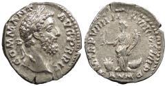 Ancient Coins - Commodus 180-192 A.D. Denarius Rome Mint Near EF