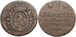 World Coins - GERMAN STATES: Pfalz-Zweibrucken 1774 1 Kreuzer