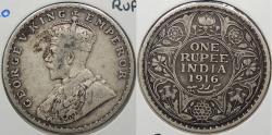 World Coins - INDIA: 1916 (b) George V Rupee