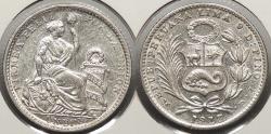 World Coins - PERU: 1913-FG Dinero