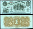 World Coins - ARGENTINA Rosario - Banco Argentino 1 June 1868 Peso Fuerte UNC