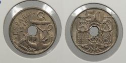 World Coins - SPAIN: 1949 (54) 50 Centimos