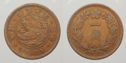 World Coins - KOREA: Japanese Protectorate Yr. 9 (1905) Chon