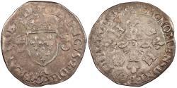 World Coins - FRANCE Henri II 1547-1559 Douzain aux Croissants 1550-A EF