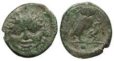 Ancient Coins - Sicily Kamarina c. 420-405 B.C. Onkia VF