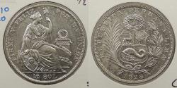 World Coins - PERU: 1928 1/2 Sol