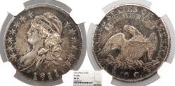 Us Coins - 1811 Capped Bust 50 Cents (Half Dollar) O-108a NGC AU-53