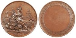 World Coins - ITALY by Cesare Mescetti Ca. 1870-1910 AE 41mm Medal UNC