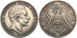 World Coins - GERMANY: Prussia 1909 A 3 Mark