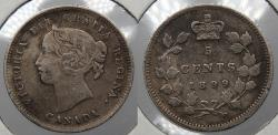 World Coins - CANADA: 1899 5 Cents
