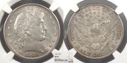 Us Coins - 1902 Barber 50 Cents (Half Dollar) NGC MS-63