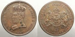 World Coins - HAITI: 1850 One year type 6 & 1/4 Centimes