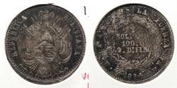 World Coins - BOLIVIA: 1864-PTS FP 1/5 Boliviano