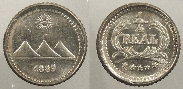 World Coins - GUATEMALA: 1889 1/4 Real #WC63445