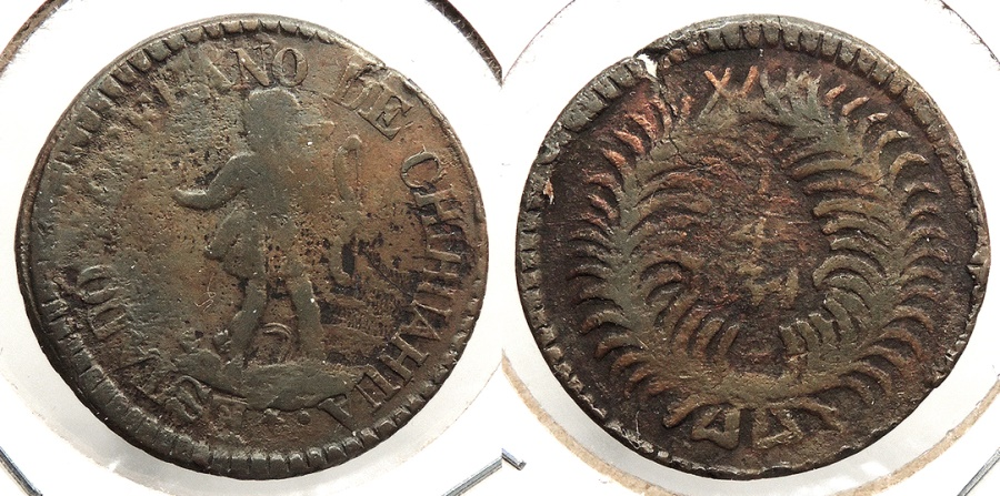 World Coins - MEXICO: Chihuahua 1834 1/4 Real