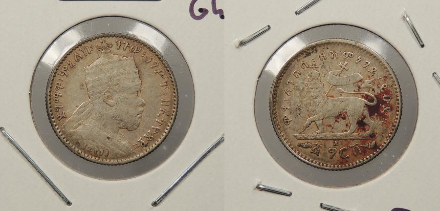 World Coins - ETHIOPIA: EE 1895 (1903)-A Ghersh