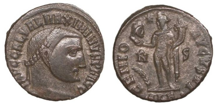 Ancient Coins - Maximinus II 309-313 A.D. Follis Alexandria Mint VF