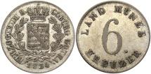 World Coins - GERMAN STATES: Saxe-Coburg-Gotha 1834 6 Kreuzer
