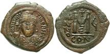Ancient Coins - Maurice Tiberius 582-602 Follis Constantinople mint.