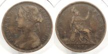 World Coins - GREAT BRITAIN: 1873 Penny