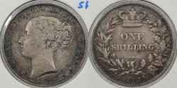 World Coins - GREAT BRITAIN: 1867 Die#5 Shilling