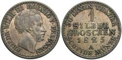 World Coins - GERMAN STATES: Prussia 1825-A 1 Groschen