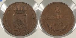 World Coins - AUSTRIA: 1848-A 2 Kreuzer
