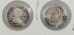 World Coins - PERU: 1785-LIMAE FM Charles III 1/2 Real