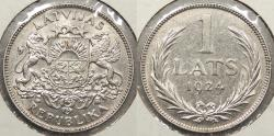 World Coins - LATVIA: 1924 1 Lats