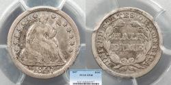 Us Coins - 1847 Seated Liberty 5 Cent (Silver) PCGS EF-40
