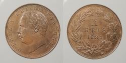 World Coins - PORTUGAL: 1884 10 Reis