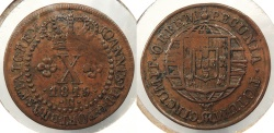 World Coins - BRAZIL: 1819-R 10 Reis