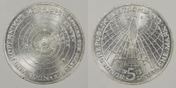 World Coins - GERMANY: West Germany 1973-J Kopernikus. 5 Mark