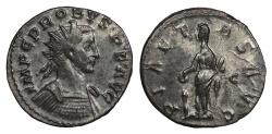 Ancient Coins - Probus 276-282 A.D. Antoninianus Lugdunum Mint VF