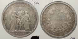 World Coins - FRANCE: 1876-A 5 Francs