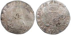World Coins - SPANISH NETHERLANDS Brabant Philip (Felipe) IV of Spain 1654 Ducatone VF