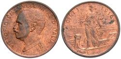 World Coins - ITALY: 1916 R 1 Centesimo