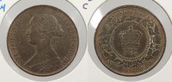 World Coins - CANADA: New Brunswick 1864 Long6 Victoria. Cent