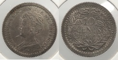 World Coins - NETHERLANDS: 1914 10 Cents