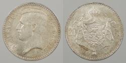 World Coins - BELGIUM: 1934 French legend. Position B. 20 Francs