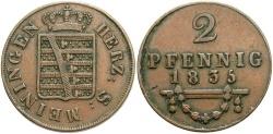 World Coins - GERMAN STATES: Saxe-Meiningen 1835 2 Pfennig