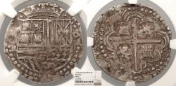 World Coins - BOLIVIA Philip (Felipe) II ND (1590-1598) Cob 4 Reales NGC VF-35